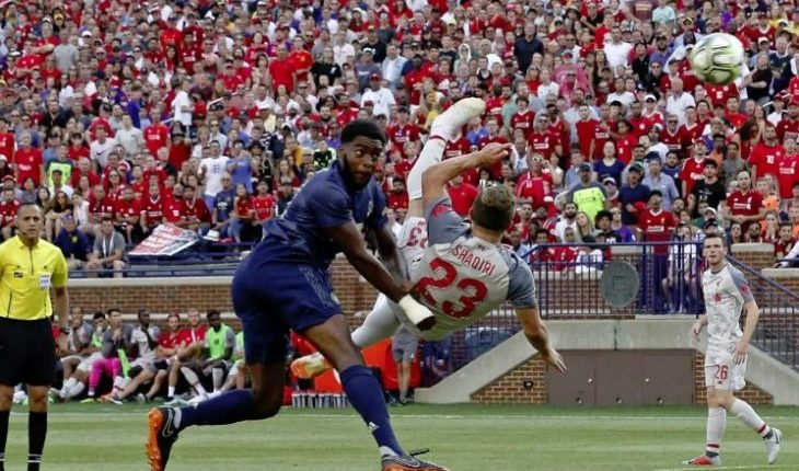 Xherdan Shaqiri gol against Man UTD