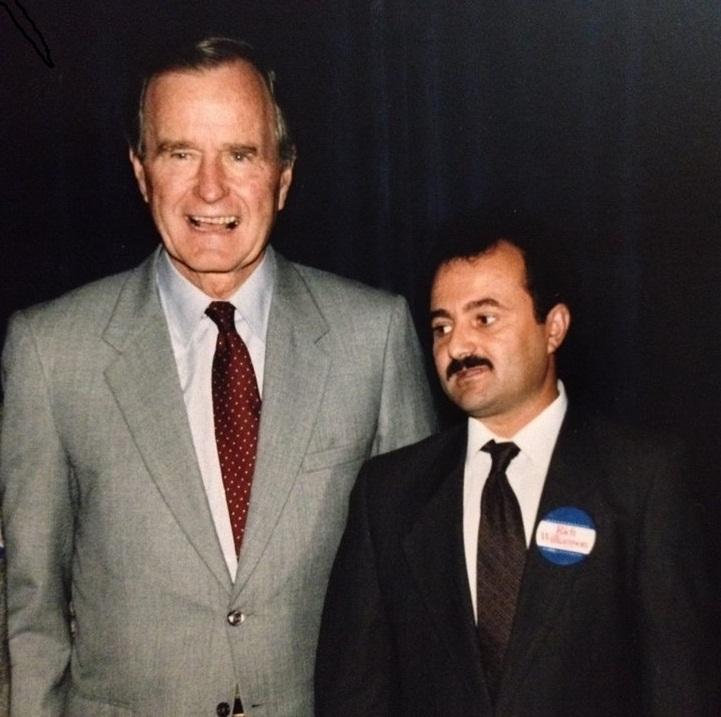 President Bush and Ramazan Bekteshi – in Chicago, Illinois1