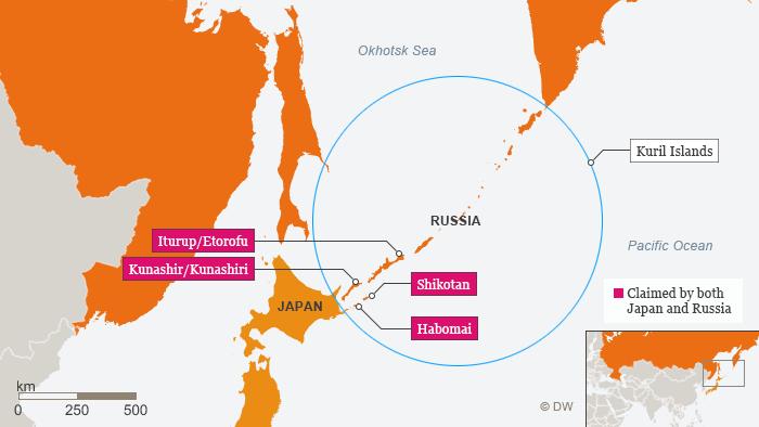 japan russia disputet islands