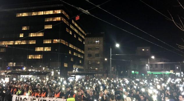 protesta ne beograd per nje vjetorin e vrasjes se oliverit